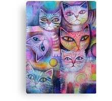 Mother cat and kittens II Canvas Print