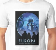 Visit Europa - Discover Life Under the Ice - NASA Space Tourism Poster Unisex T-Shirt