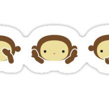 3 Wise Monkeys - Brown Sticker