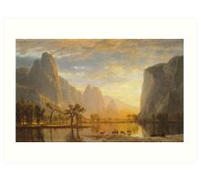 Albert Bierstadt - Valley of the Yosemite (1864)  Art Print