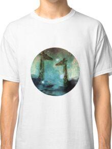 Giraffes Above Night Clouds Classic T-Shirt