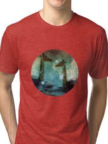 Giraffes Above Night Clouds Tri-blend T-Shirt
