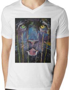 Panther Mens V-Neck T-Shirt