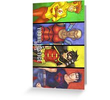 Young Justice Boys Greeting Card