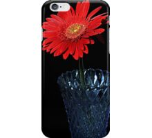 Flower on black iPhone Case/Skin