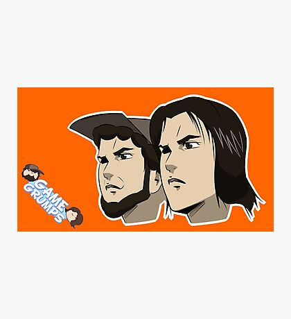 Game grumps Anime Heads Photographic Print