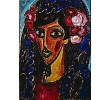 Alexei Jawlensky - The Blue Mantilla 1913  Photographic Print
