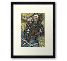 Hawk warrior Framed Print