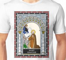 ST IGNATIUS under STAINED GLASS Unisex T-Shirt