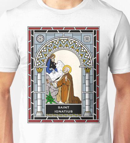ST IGNATIUS under STAINED GLASS Unisex T-Shirt