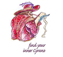 Find your inner Cyrano! Photographic Print