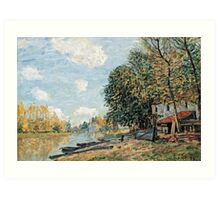 Alfred Sisley - Moret The Banks of the River Loing, 1877  Art Print