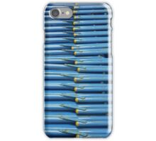 Stacked Blue Chair Abstract iPhone Case/Skin