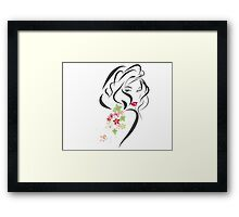 Woman sexy flowers Framed Print