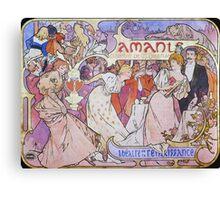 Alphonse Mucha - Amants Canvas Print