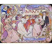 Alphonse Mucha - Amants Photographic Print