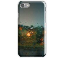 Rain Drops on a Window iPhone Case/Skin