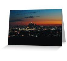 West coast sunset Greeting Card