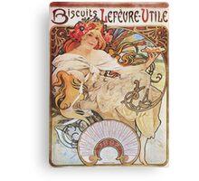 Alphonse Mucha - Biscuits Lefevre Utile Canvas Print