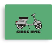 mod mods vespa motor bike retro vintage punk rock pop Canvas Print