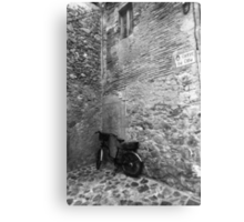 Bicycle in an Alley Metal Print