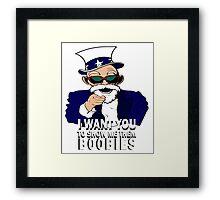 I WANT YOU! Framed Print