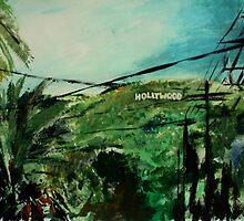 Hollywood California USA Fine Art Contemporary Acrylic Painting  by JamesPeart