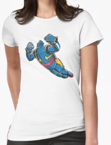 Gigantor the space age robot - grungy Womens Fitted T-Shirt