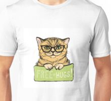 Cat in glasses and inscription Unisex T-Shirt