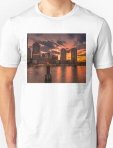 Red sun-dusk in Boston, MA  Unisex T-Shirt