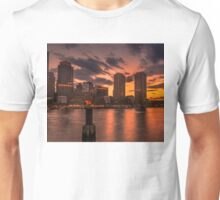 Red sun-dusk in Boston, MA  Unisex T-Shirt