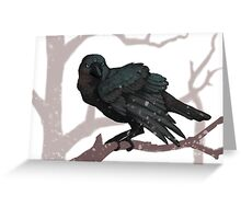 The Three Eyed Crow Greeting Card