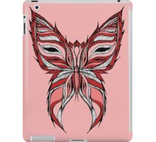 Pink and red butterfly iPad Case/Skin