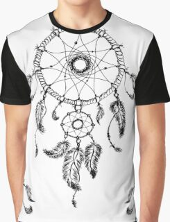 Hand-drawn dreamcatcher with feathers Graphic T-Shirt