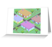 Neighborhood Houses Greeting Card