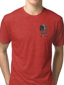 Lace Up! Blue Tri-blend T-Shirt