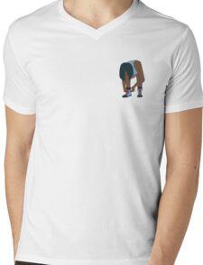 Lace Up! Blue Mens V-Neck T-Shirt