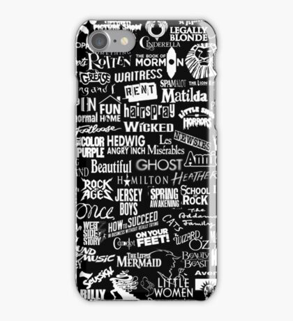 broadway baby {black and white version} iPhone Case/Skin