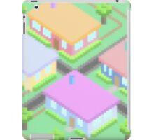 Neighborhood Homes Pixels iPad Case/Skin