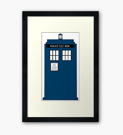 Simple TARDIS Framed Print