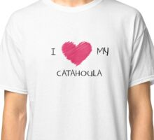 I Love My Catahoula for Dog Lovers Classic T-Shirt
