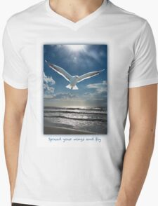 Spread your wings and fly Mens V-Neck T-Shirt