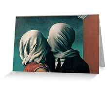 The Lovers by Rene Magritte Greeting Card