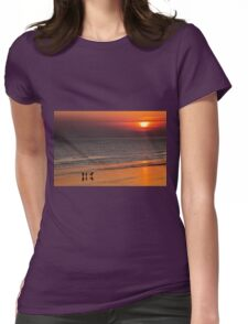 Surfers end of the day Womens Fitted T-Shirt