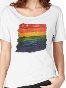 Rainbow Paint Stripes Women's Relaxed Fit T-Shirt
