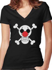 Buggy Jolly Rogger Women's Fitted V-Neck T-Shirt