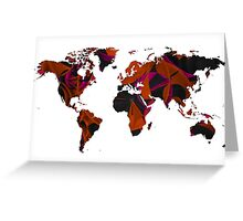 World map composition Greeting Card