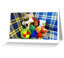 Eddie's Toys - sit on settee in Family room Greeting Card