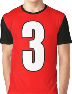 Football, Soccer, 3, Three, Third, Number Three, Sport, Team, Number, Red, Devils Graphic T-Shirt