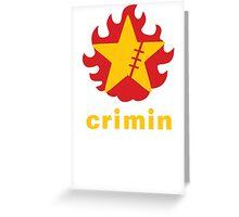 Crimin Brand Fire Star Greeting Card